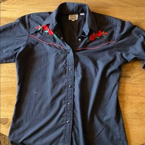 Black button up collared shirt